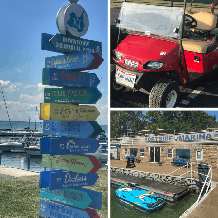 golf cart rental at Kelleys Island in Ohio