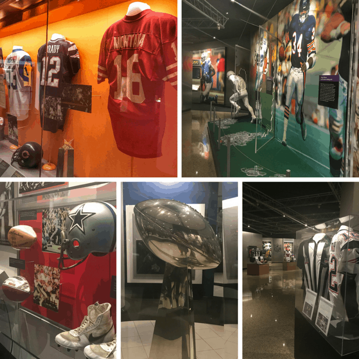exhibits at the Pro Football Hall of Fame