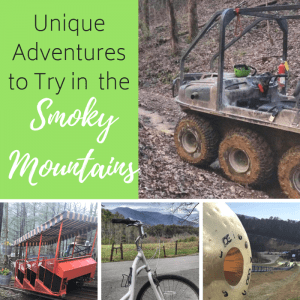 Unique Adventures to try in the Smoky Mountains