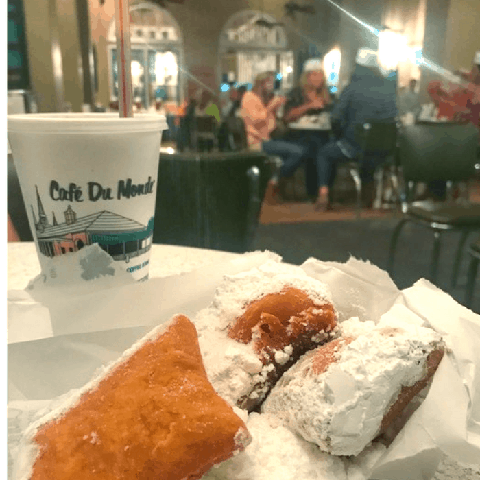 Coffee & Beignets at Cafe Du Monde in New Orleans