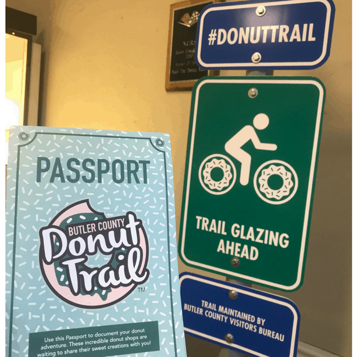 Donut Trail Passport and Sign