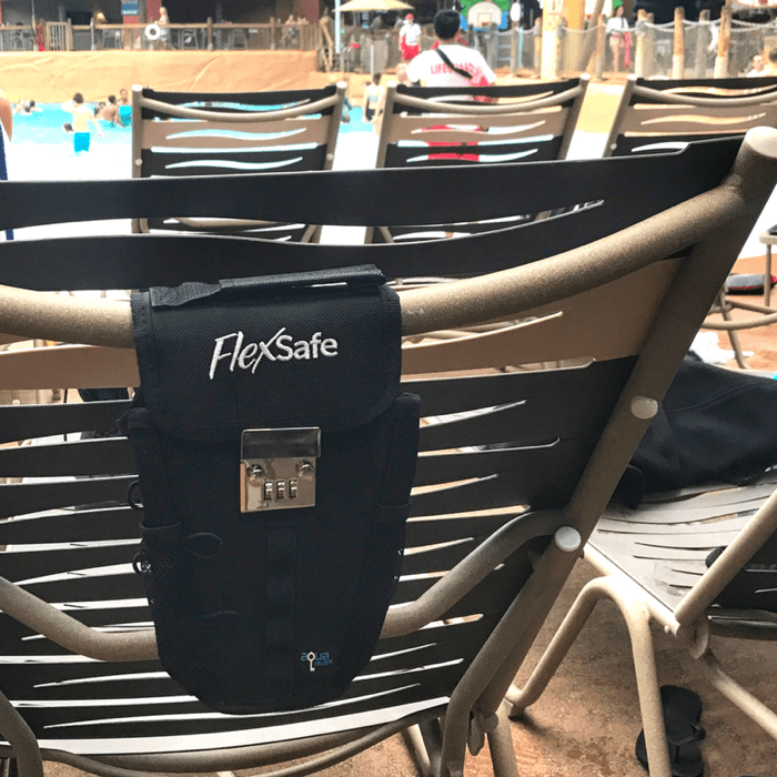 Use Flex Safe by AquaVault Portable Safe at Great Wolf Lodge Waterpark
