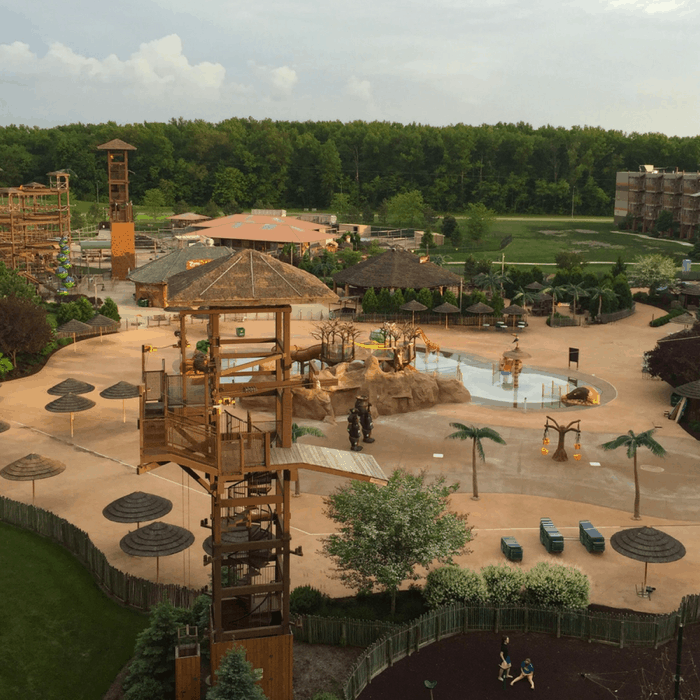 Outdoor area at Kalahari Resort in Sandusky, OH