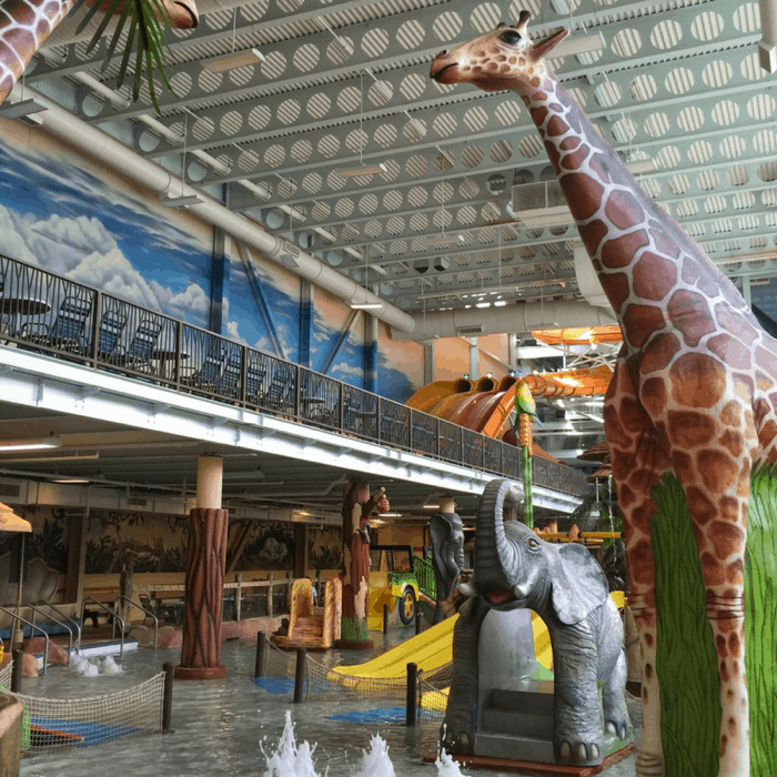 Familiar landmark in indoor waterpark at Kalahari Resort in Sandusky, OH