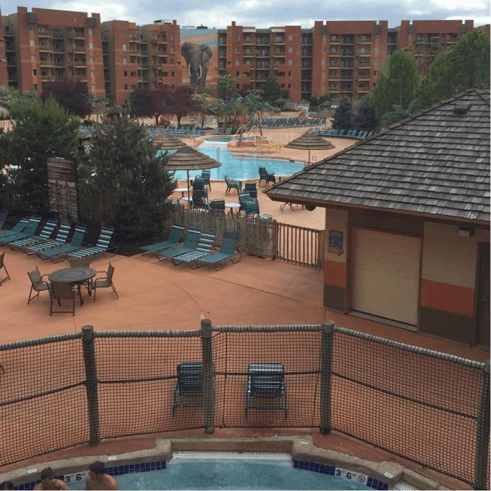 Outdoor pool at Kalahari Resort in Sandusky, OH