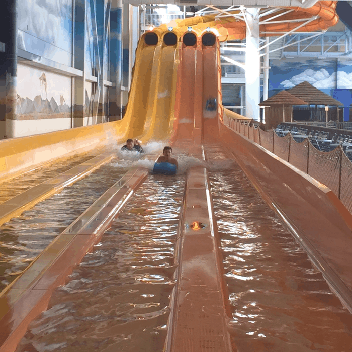 Indoor waterpark at Kalahari Resort in Sandusky, OH