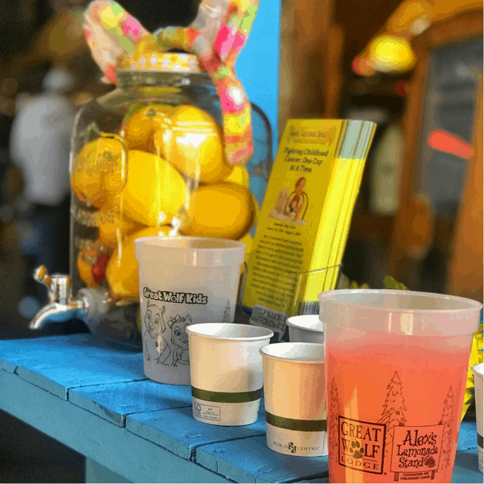100% of Kids Club Lemonade Stand Proceeds go to Alex's Lemonade Stand Charity