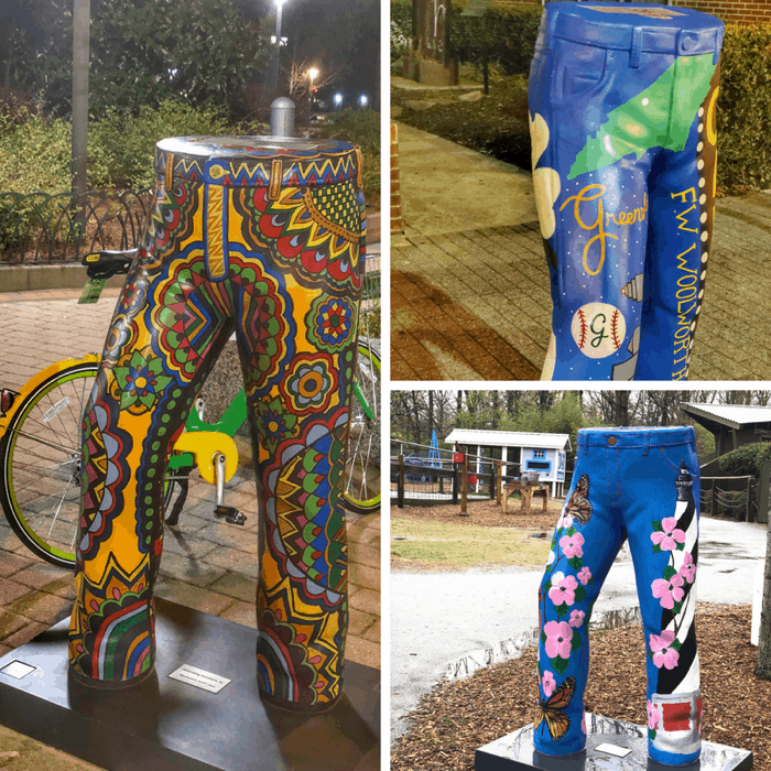 Painted Jeans Statues in Greensboro NC