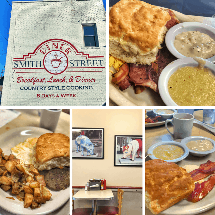 breakfast at Smith Street Diner in Greensboro NC