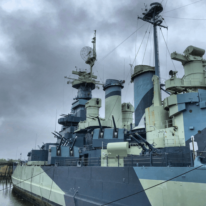 WW2 Battleship North Carolina