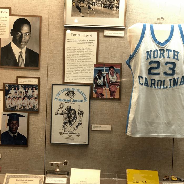 Michael Jordan Memorabilia at Cape Fear Museum in Wilmington, North Carolina
