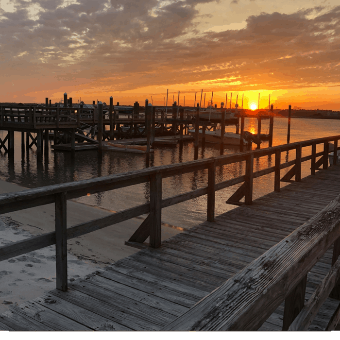 Sunset at Johnnie Mercer's Pier in Wilmington, North Carolina