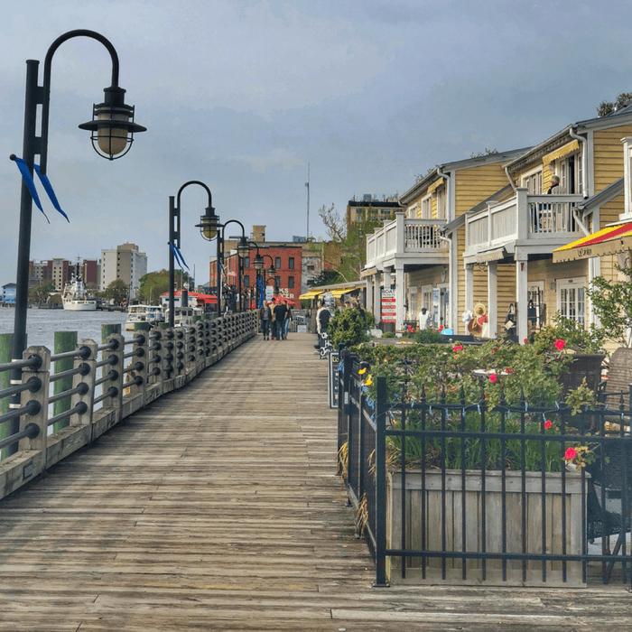 Riverwalk in downtown Wilmington, North Carolina
