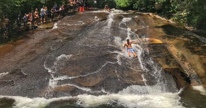 Sliding Rock Natural Waterslide in North Carolina