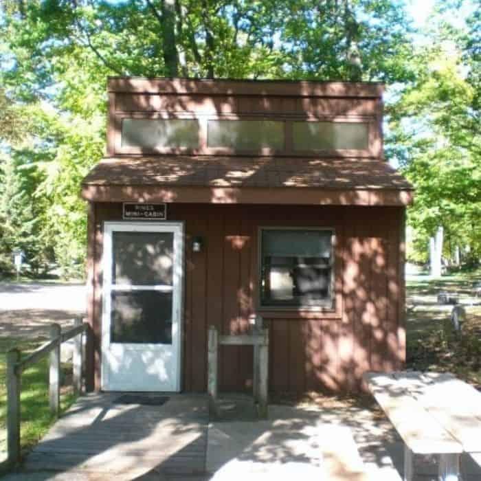 cabin at Ludington State Park