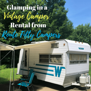 Glamping in a Vintage Camper Rental from Route Fifty Campers