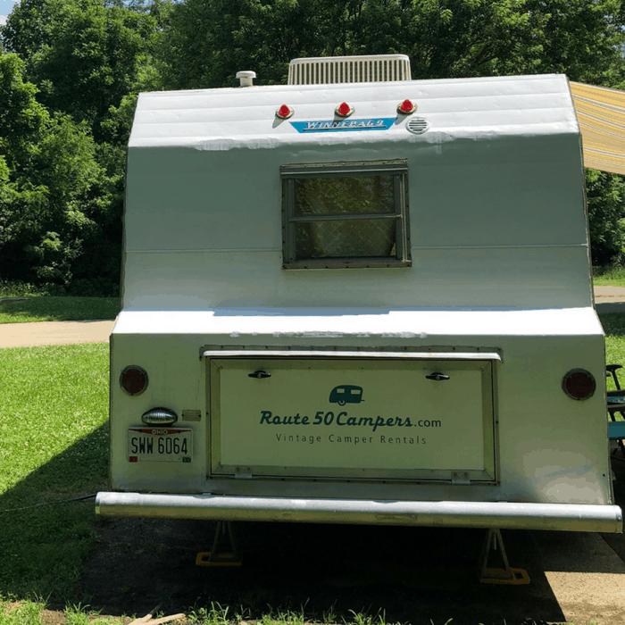 vintage Winnebago rental from Route Fifty Campers