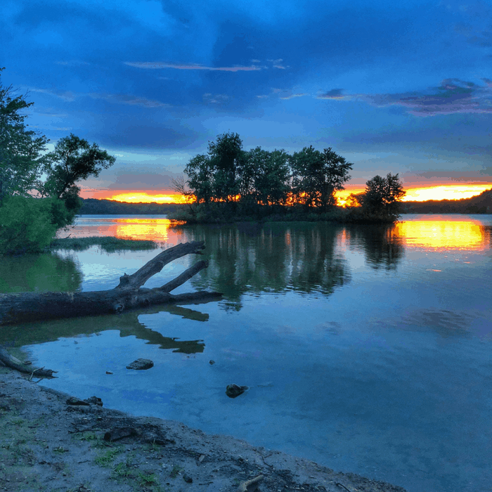 sunset at Caesar Creek State Park