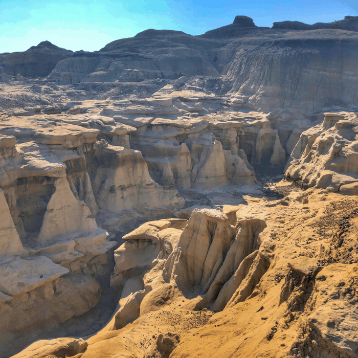 Bisti Badlands in New Mexico