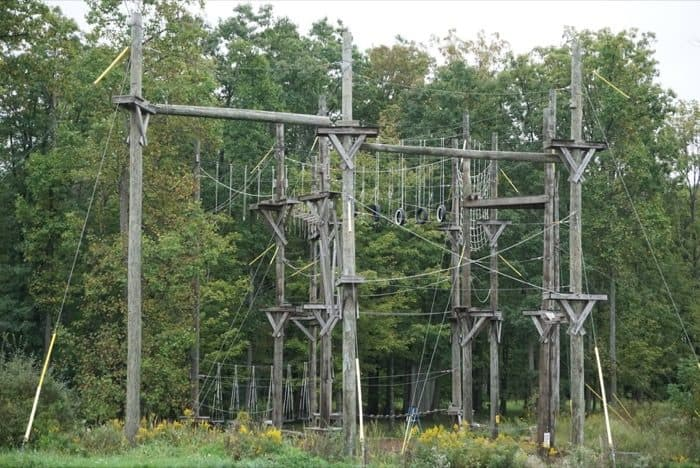 high ropes course at Nemacolin Woodlands Resort