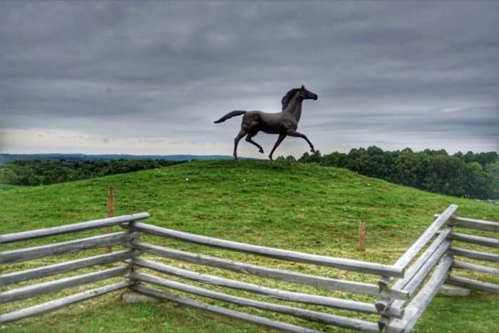 horse sculpture at Nemacolin