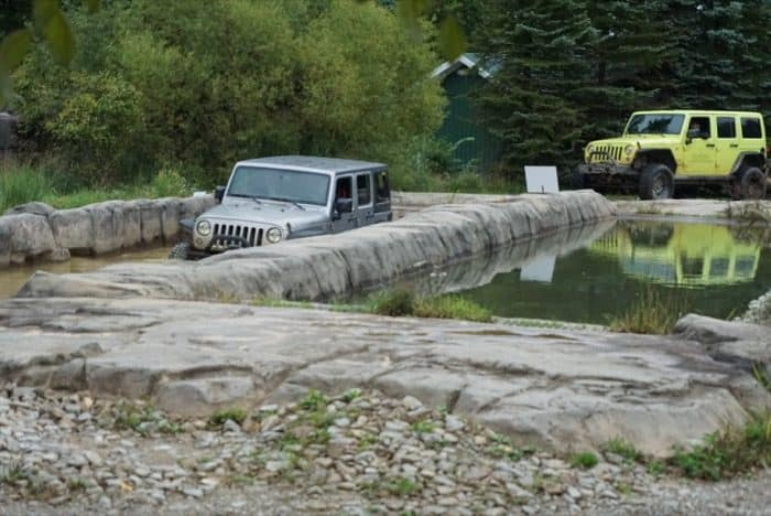water test course for Jeeps at Nemacolin Woodlands Resort