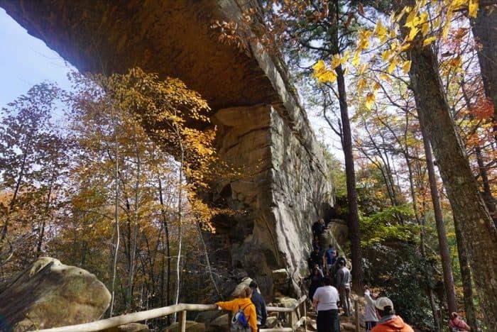 Narrow steps Natural Bridge