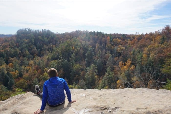 view of Natural Bridge at Lookout Point