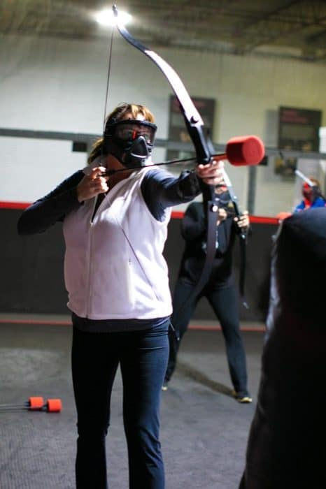 woman playing at Archery Arena