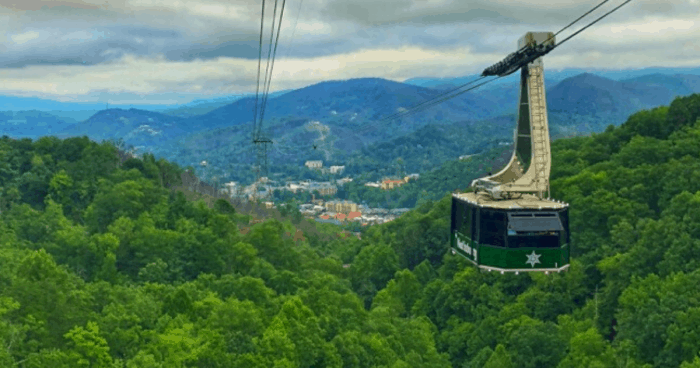aerial tramway at Ober Gatlinburg in Tennessee
