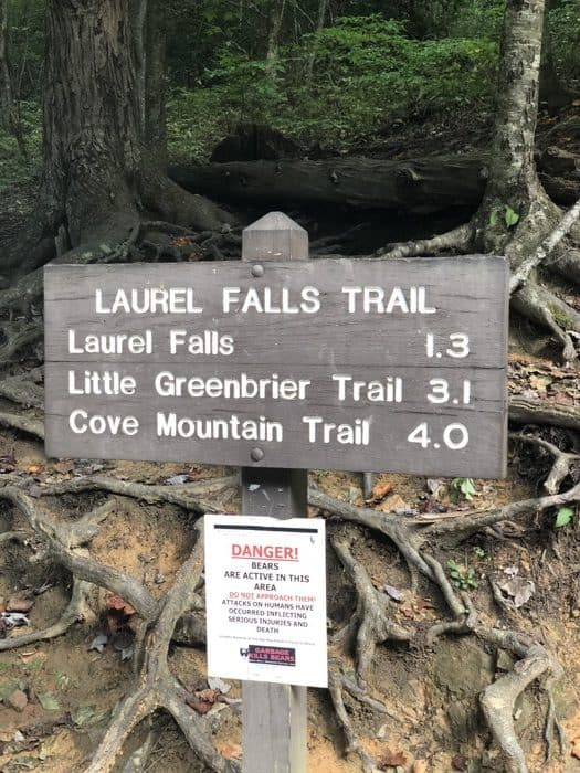 laurel-falls-trail-sign-gatlinburg