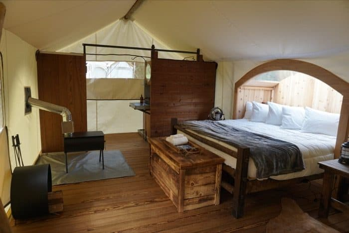 glamping-under-canvas-tent-interior-gatlinburg