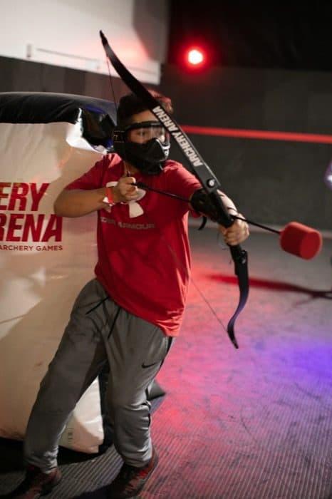 combat archery at Archery Arena in Cincinnati