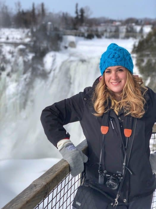 Adventure mom Montmorency Falls