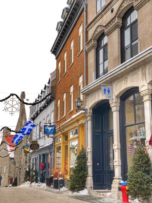 shops in Old Quebec City