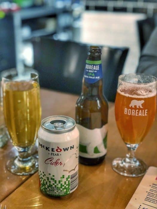 craft beer at Le cochon dingue in Quebec