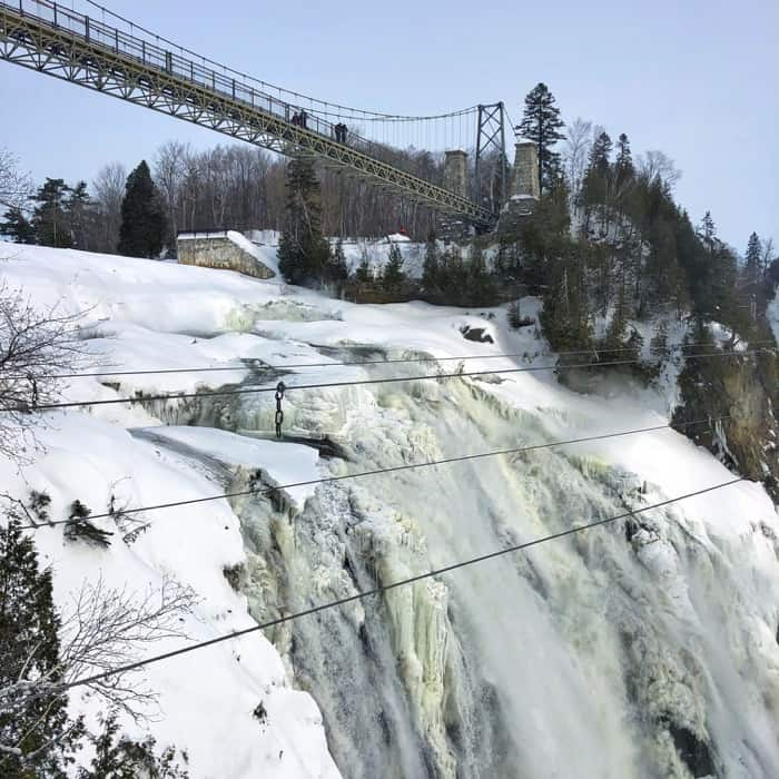 Montmorency Falls in the winter