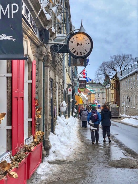 Shopping in Old Quebec City
