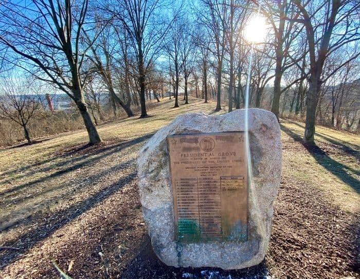 Presidential Grove in Eden Park Cincinnati