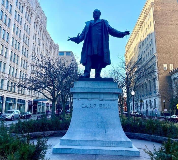 Statue of James A. Garfield at Piatt Park in Cincinnati