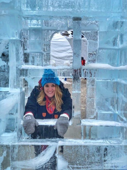 adventure mom at winter carnival Quebec city