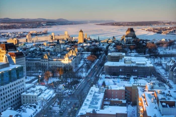 beautiful view of Quebec City