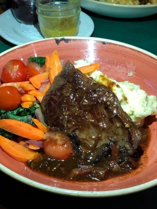 bison skirt steak at La Buche restaurant in Quebec City
