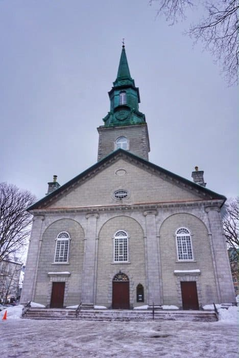 church in Old Quebec City