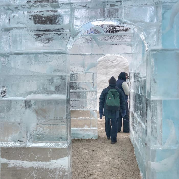 ice wall daytime winter Carnival Quebec City