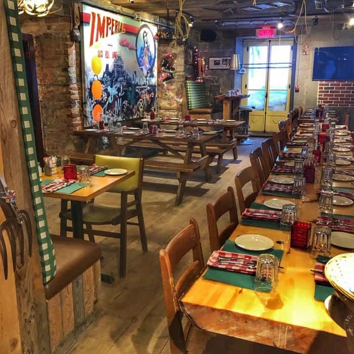 dining at La Buche restaurant in Quebec City