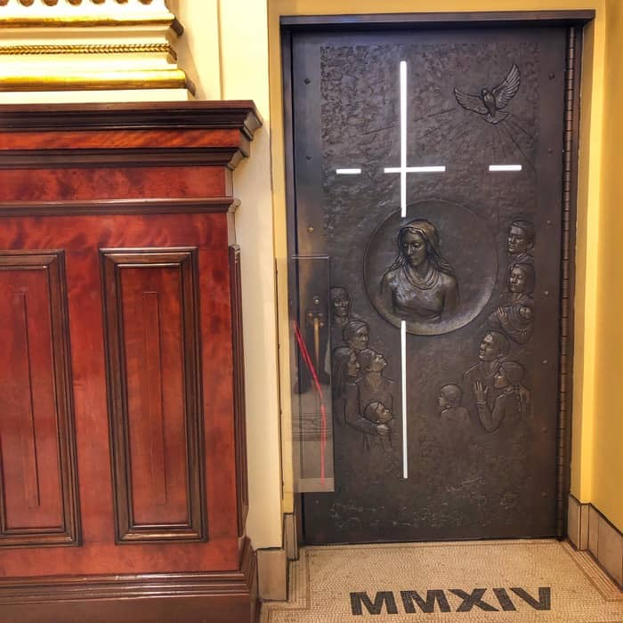 Pope designated holy door at Notre-Dame-de-Québec Basilica