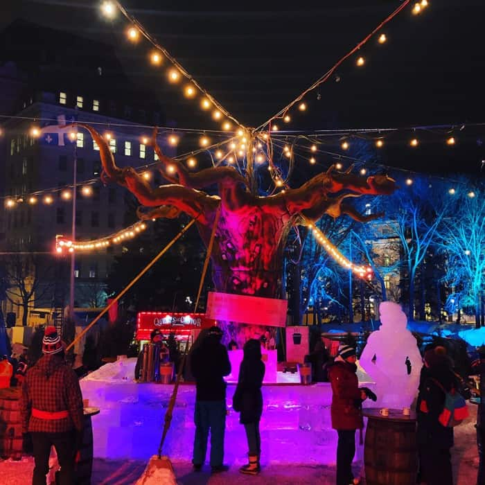 bar at the winter carnival in Quebec city