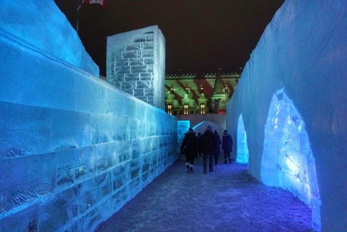 ice wall Winter Carnival  Quebec city