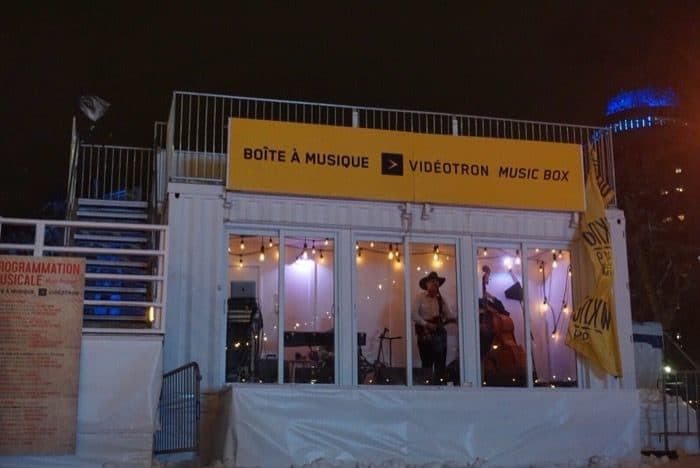 indoor stage Winter Carnival  Quebec city